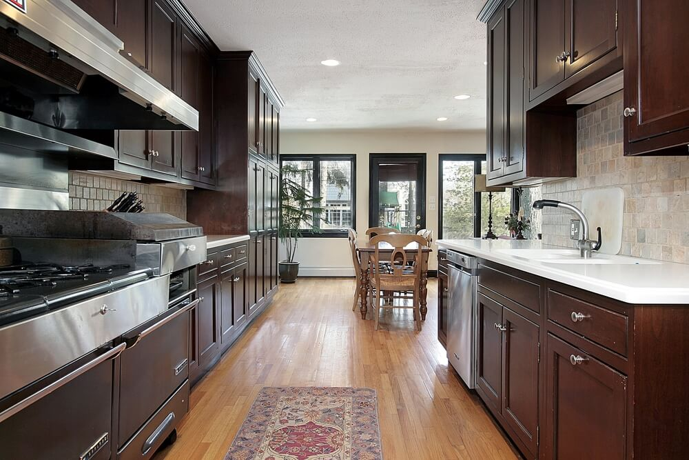 43 Kitchens with Extensive Dark Wood Throughout on Maple Kitchen Cabinets With Dark Wood Floors Dark Countertops  id=36267