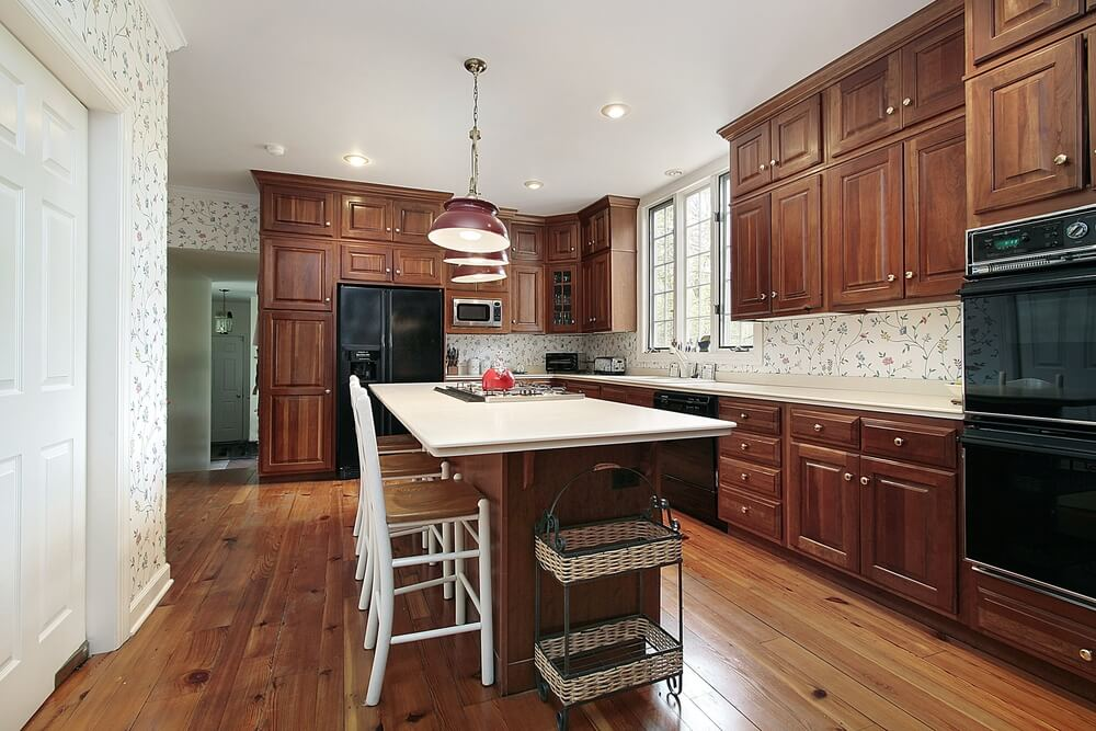43 Kitchens with Extensive Dark Wood Throughout on Maple Kitchen Cabinets With Dark Wood Floors Dark Countertops  id=92285