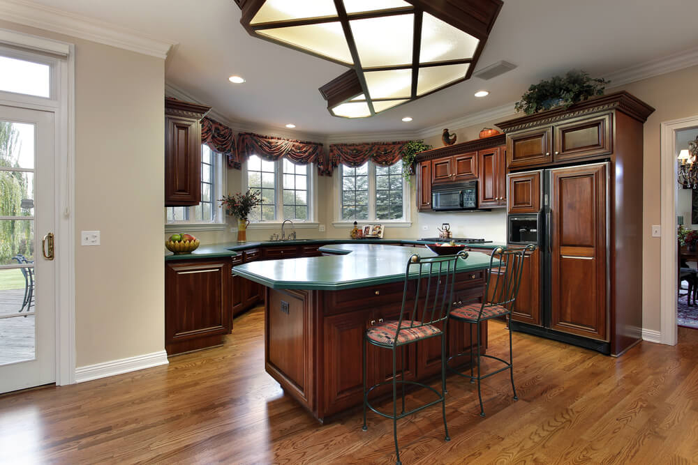 43 Kitchens with Extensive Dark Wood Throughout on Maple Kitchen Cabinets With Dark Wood Floors Dark Countertops  id=93164