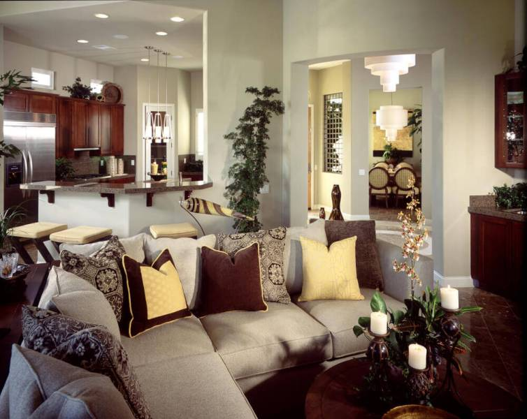27 Elegant Living Room Sectionals Elegant living room with a small sectional sofa decorated with colorful  pillows