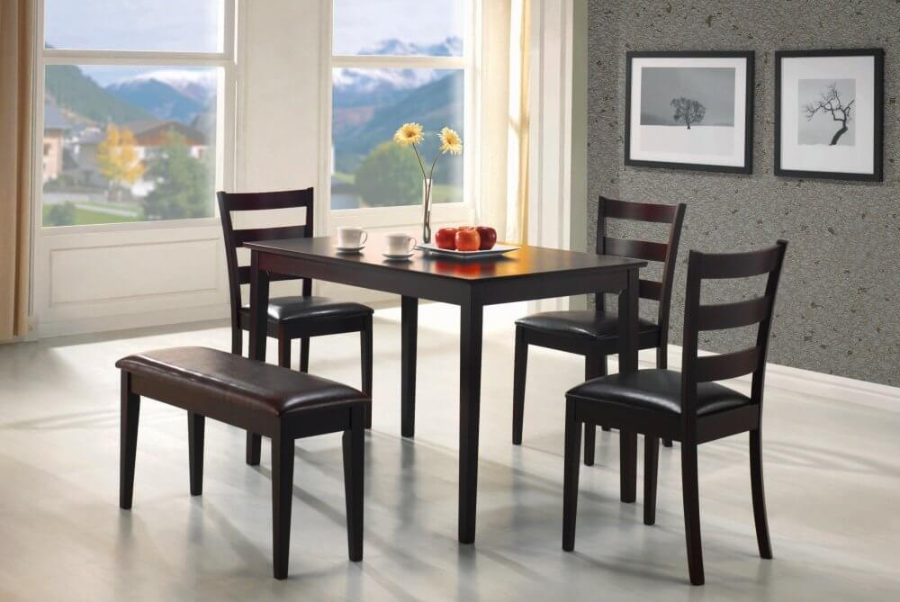 26 Dining Room Sets  Big and Small  with Bench Seating  2018  Perfect for an apartment or small dining room  this five piece bench dining  set is