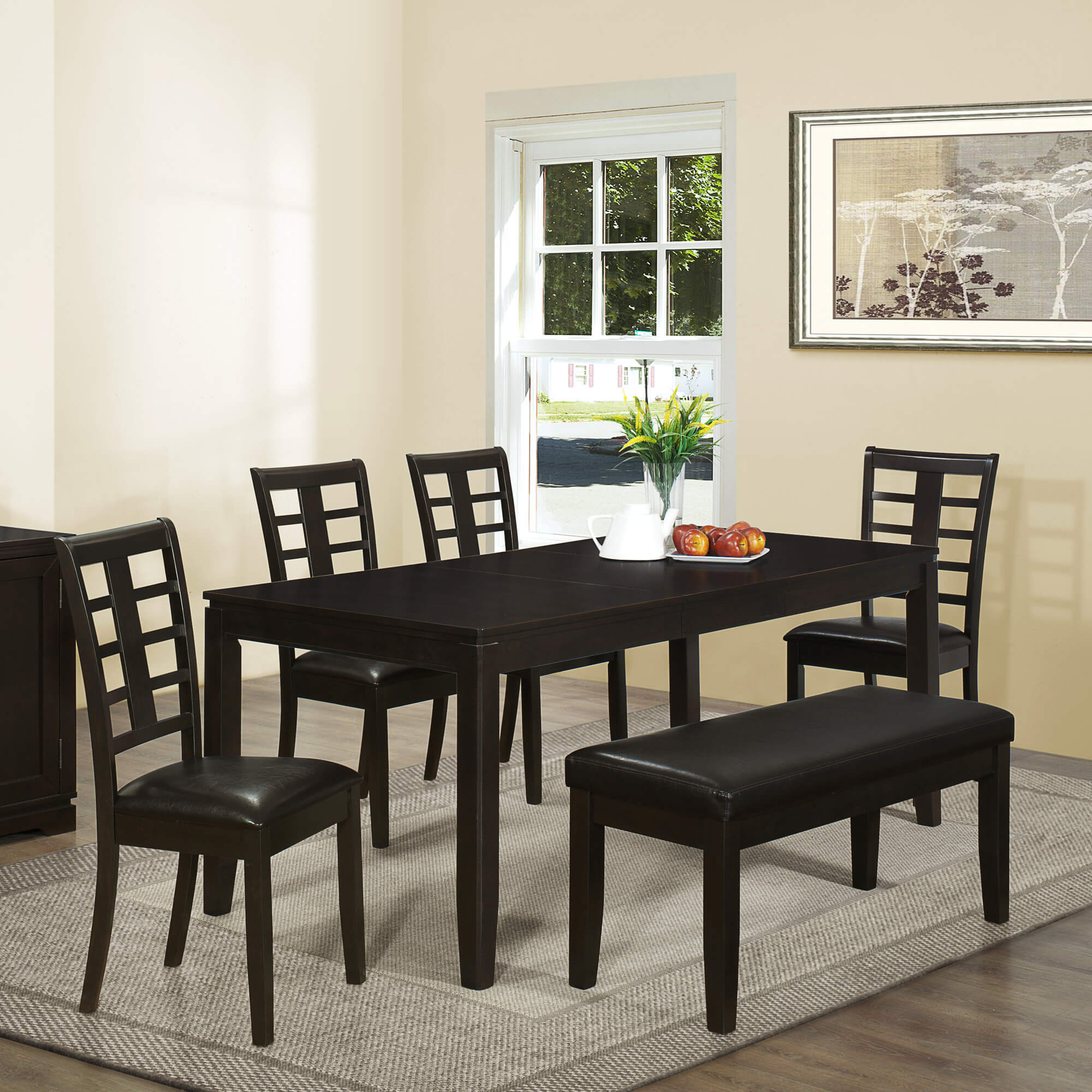26 Dining Room Sets  Big and Small  with Bench Seating  2018  Contemporary Asian inspired dining set with bench is a good size being able  to accommodate