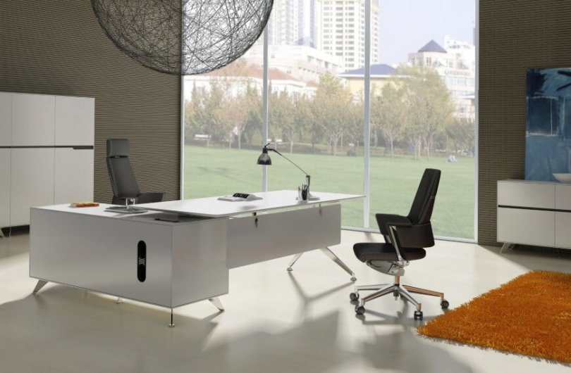 17 Different Types of Desks  2018 Desk Buying Guide  Modern L shaped white desk