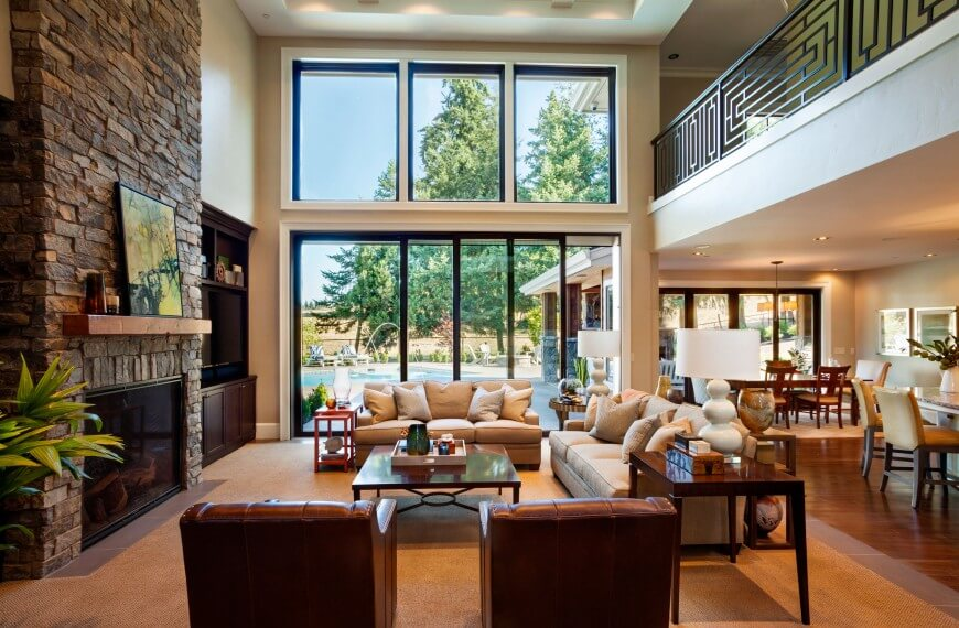 Stately Contemporary Rustic Interior Design Home By