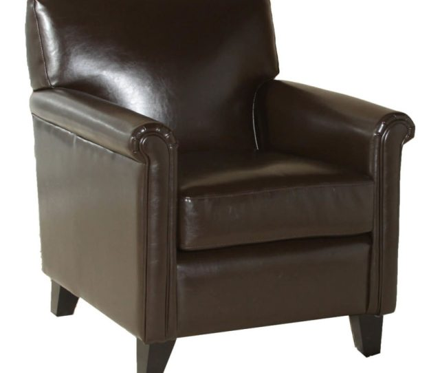 The Coffee Brown Leather On This Cleanly Designed Chair Makes For A Luxurious Addition To Any