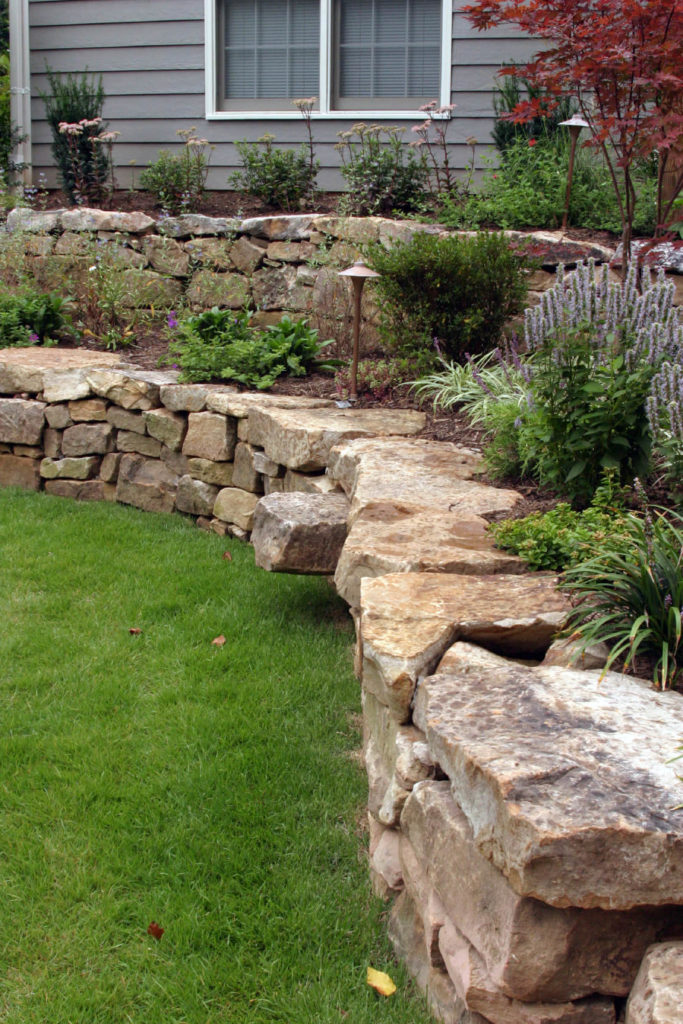 50 Backyard Retaining Wall Ideas and Terraced Gardens (Photos) on Wall Ideas For Yard id=17440