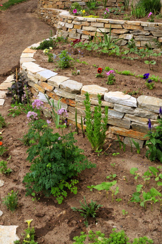 50 Backyard Retaining Wall Ideas and Terraced Gardens (Photos) on Wall Ideas For Yard id=42613