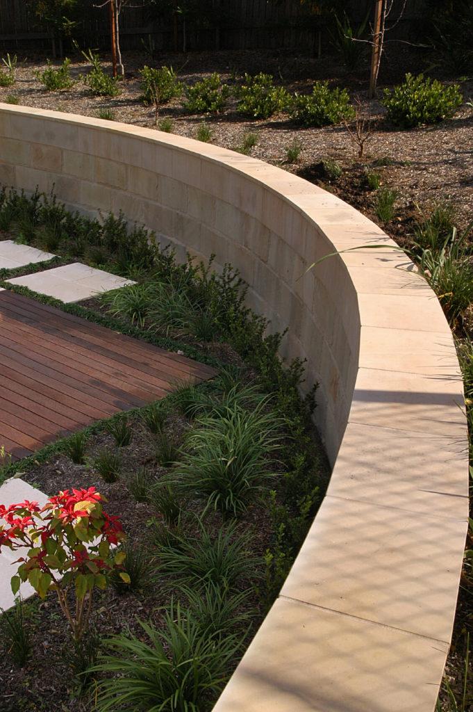50 Backyard Retaining Wall Ideas and Terraced Gardens (Photos) on Patio Stone Wall Ideas  id=18879