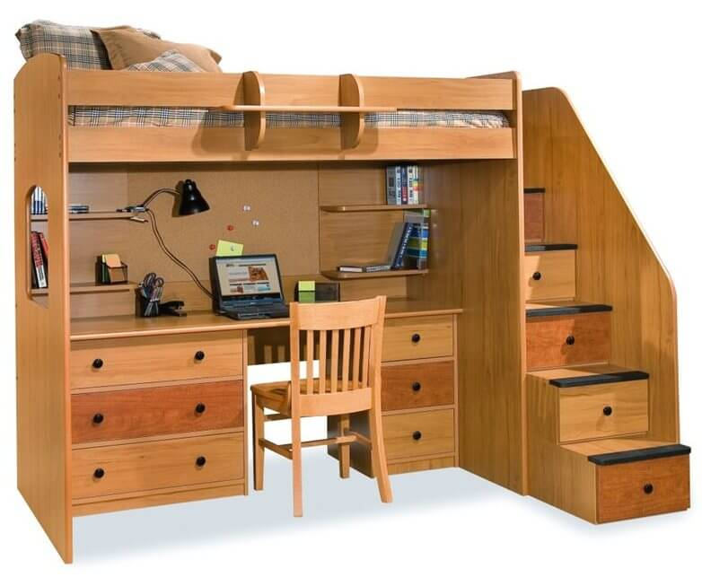 Image Result For Bunk Beds With Desk And Pull Out Bed
