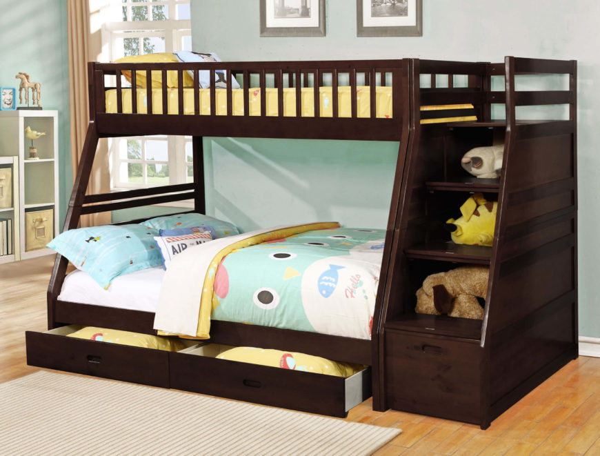 24 Designs Of Bunk Beds With Steps Kids Love These