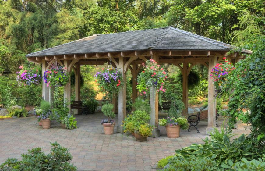 32 Fabulous Backyard Pavilion Ideas on Outdoor Patio Pavilion id=63281