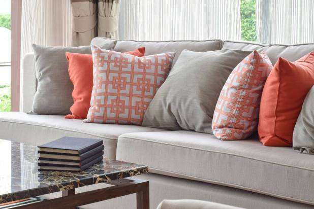 Image result for bright decorative pillows in room