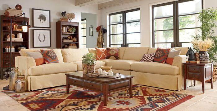 How to arrange pillows on sofa and loveseat for Arrange living room online
