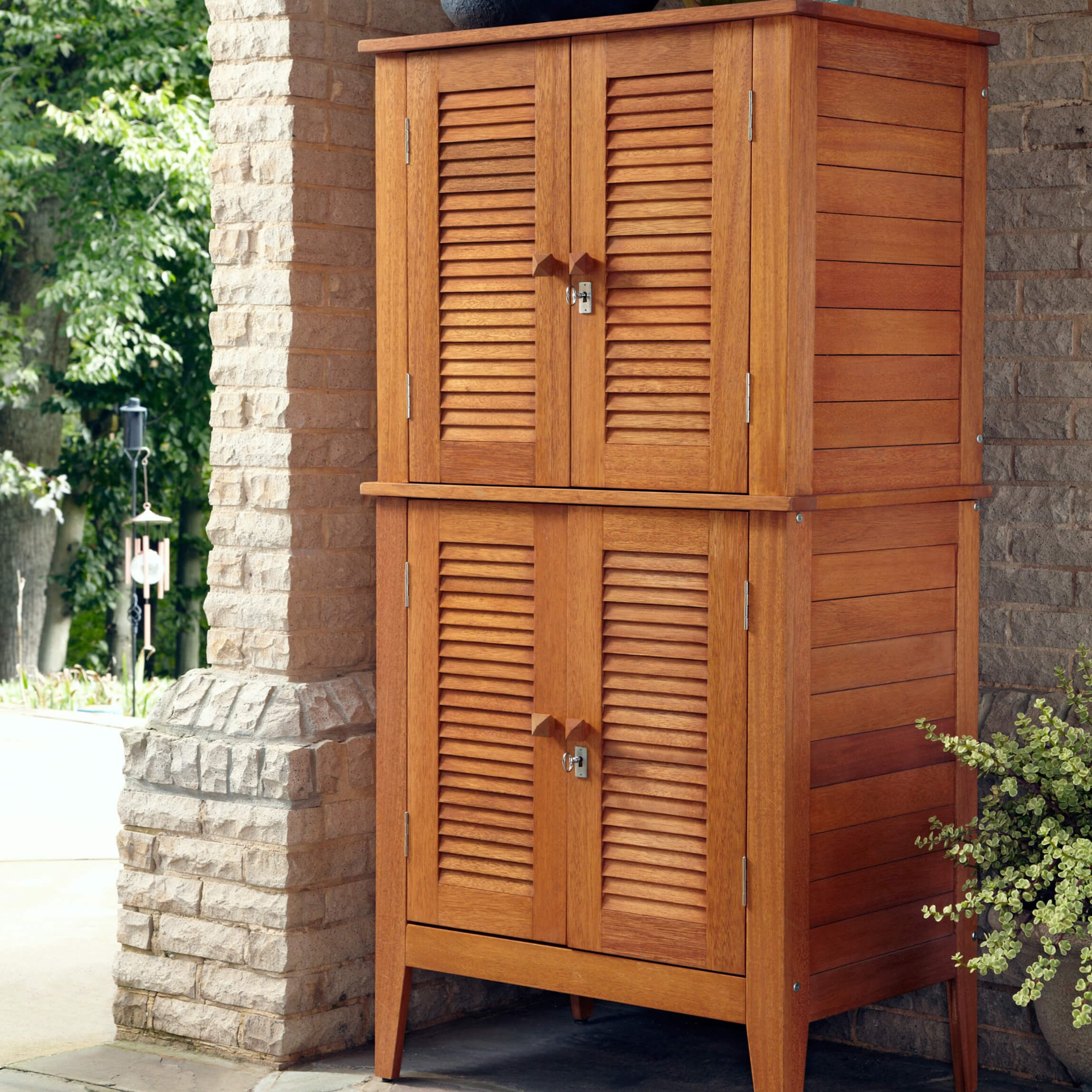 Top 10 Types of Outdoor Deck Storage Boxes This beautiful and durable four door storage cabinet is crafted out of  eco friendly