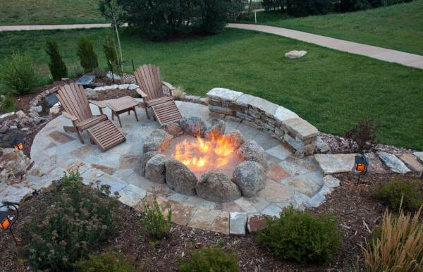 outdoor patio with fire pit designs 60 Backyard and Patio Fire Pit Ideas (Different Types with