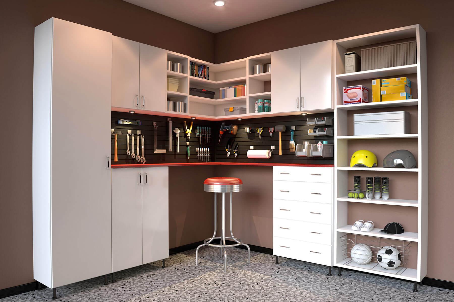 29 Garage Storage Ideas (Plus 3 Garage Man Caves) on Garage Decorating Ideas  id=13781