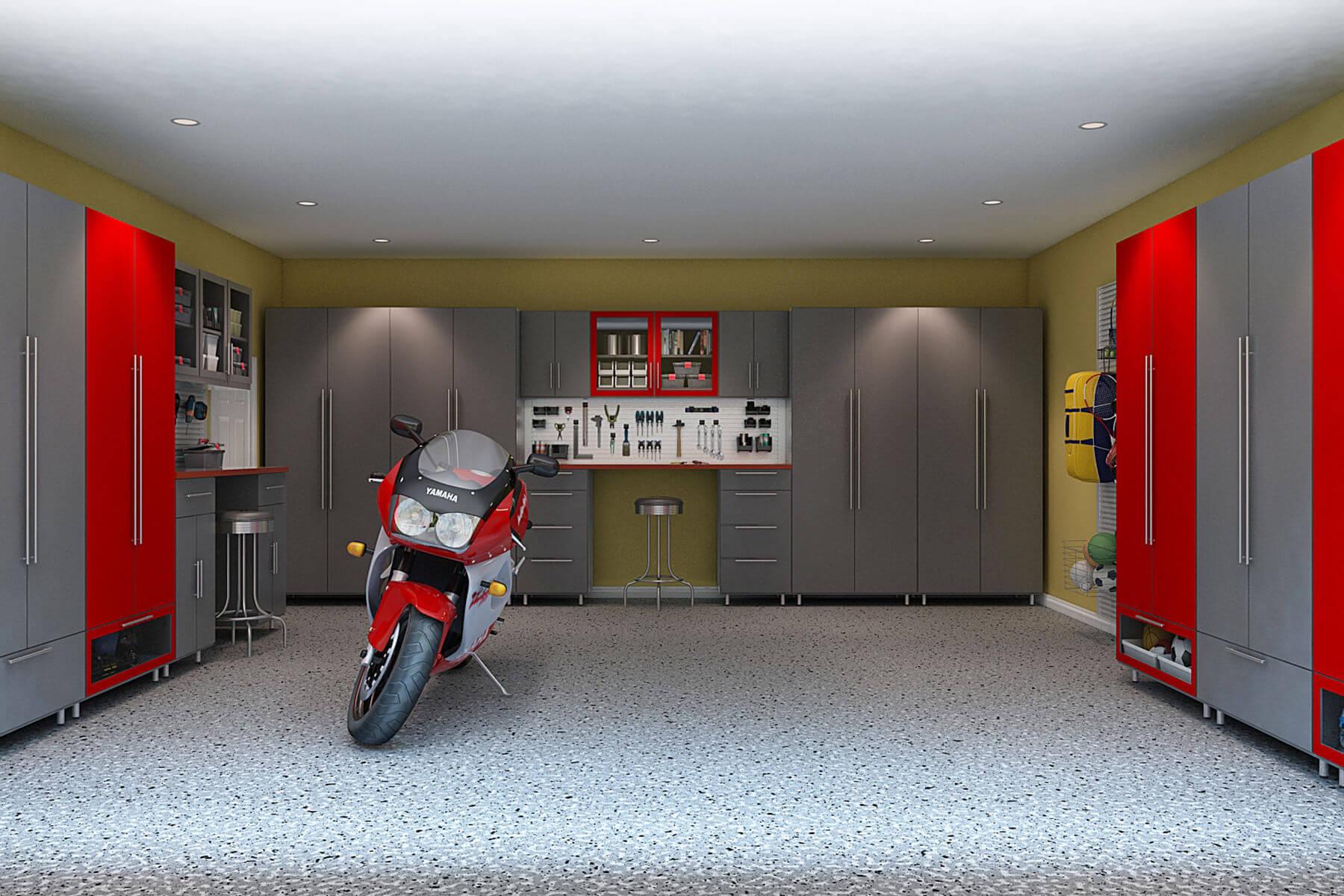 29 Garage Storage Ideas (Plus 3 Garage Man Caves) on Garage Colors Ideas  id=61740