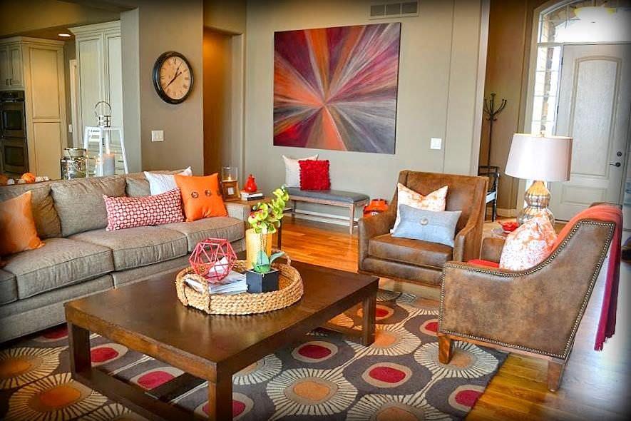Green And Orange Living Room Design Novocom Top