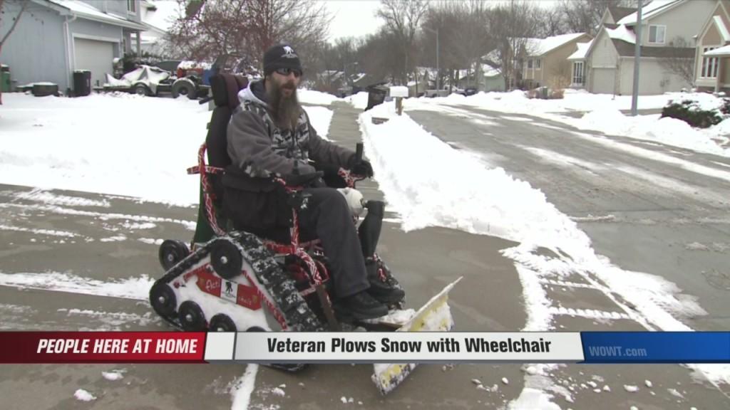 Disabled Veteran Transforms Wheelchair Into Snow PlowThe