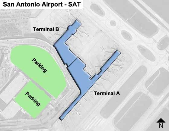 San Antonio International Airport Map