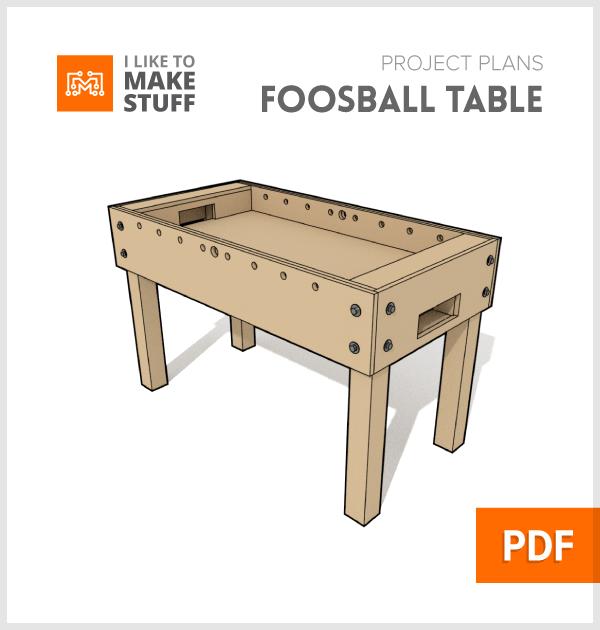 foosball table u2013 digital plan