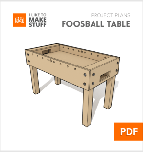 How to make diy foosball table plans