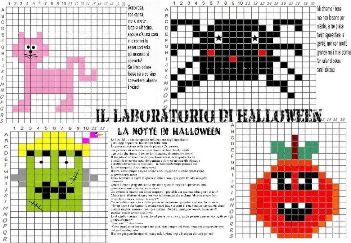 IL LABORATORIO IN PIXEL ART DI HALLOWEN CON STORIA, 4 PERSONAGGI ,SCENARIO E FILASTROCCHE 00006