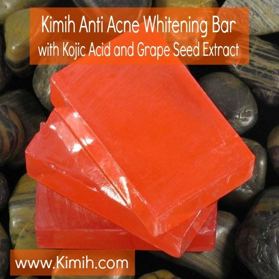 Anti Acne Whitening Bar with Kojic Acid and Grape Seed Extract 170g 00002