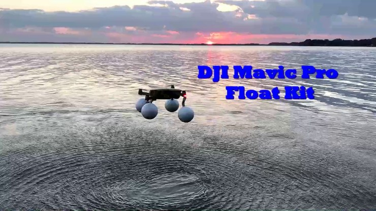 DJI Mavic Pro/Platinum Float Kit with hard smooth Styrofoam floats.