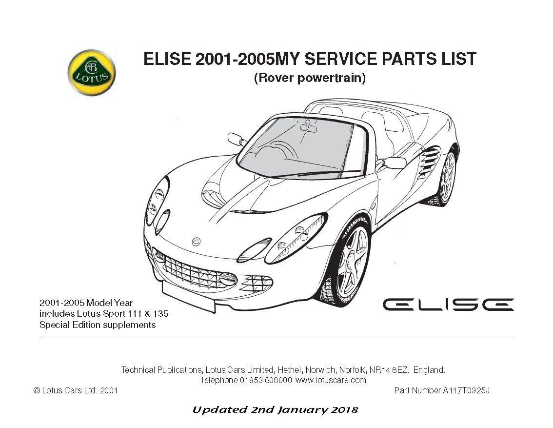 Teile Handbuch Lotus Elise Mk2 Rover