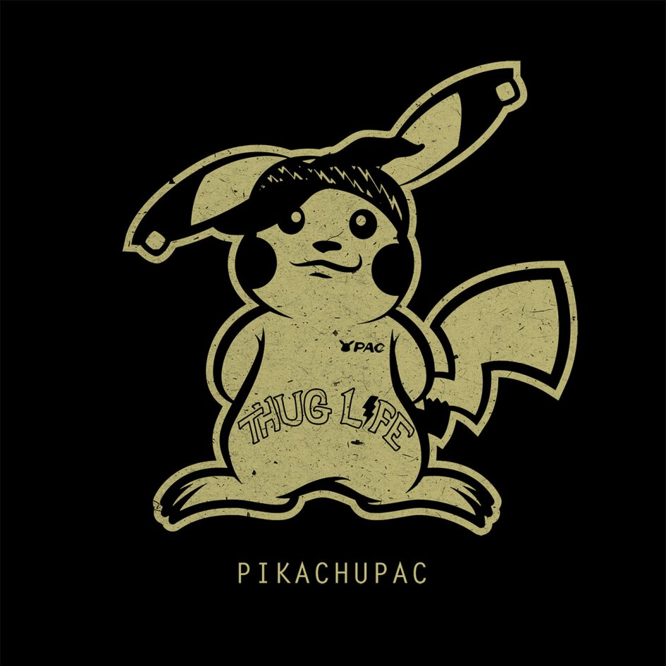 PokéRappers Tee - Pikachupac 00000