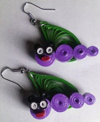 Stylish and trendy quilled paper earrings TCERDSGN002