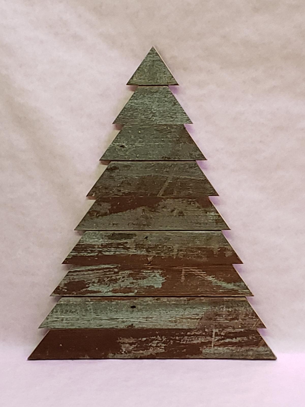 Handmade Wooden Christmas Trees