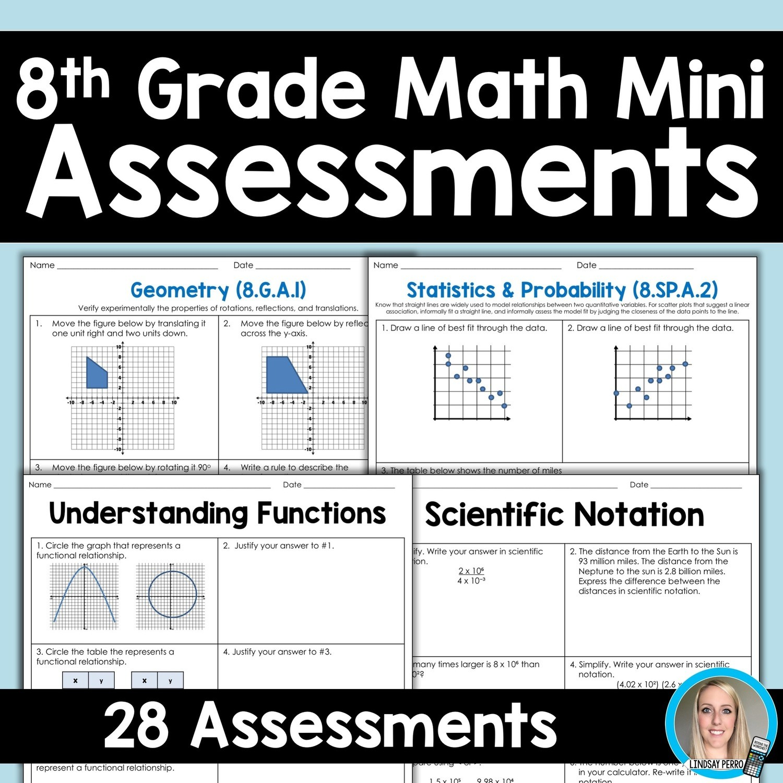 8th Grade Math Common Core Worksheet