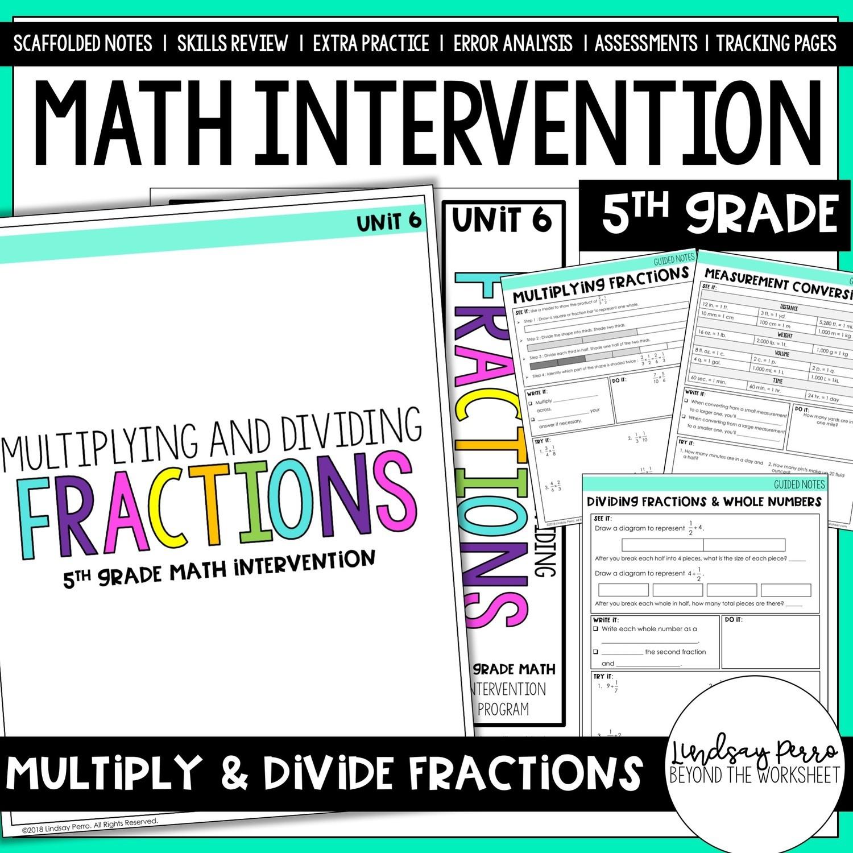 5th Grade Intervention Multiplying Amp Dividing Fractions