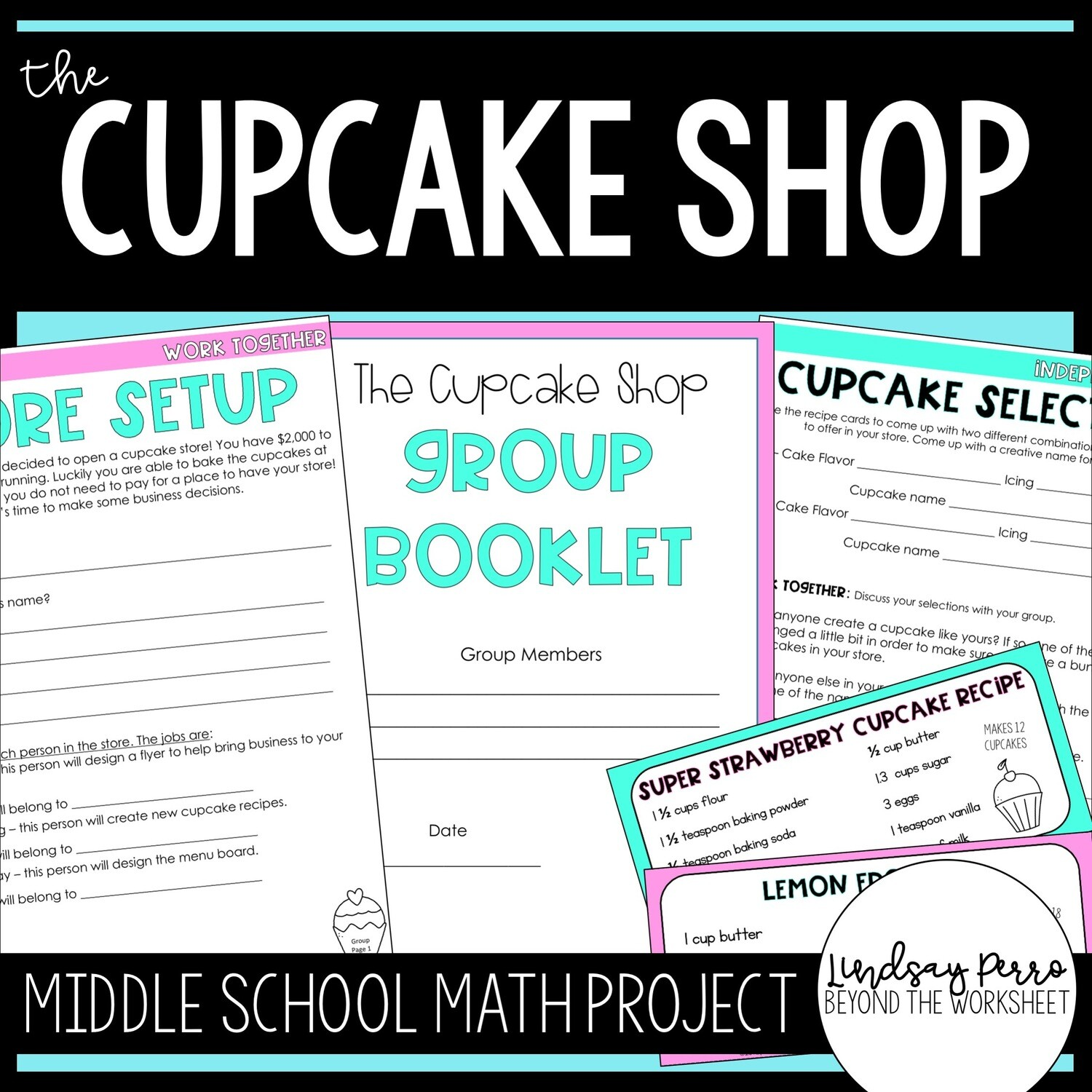 The Cupcake Shop Math Project Store
