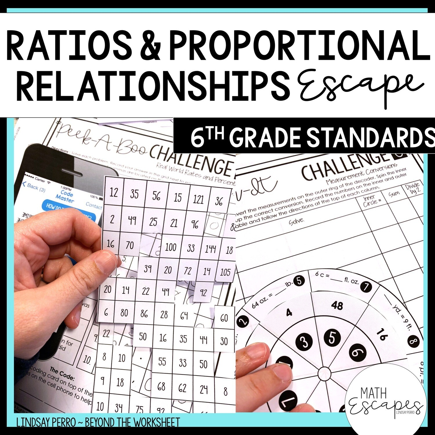 6th Grade Ratios And Proportional Reasoning Escape Room
