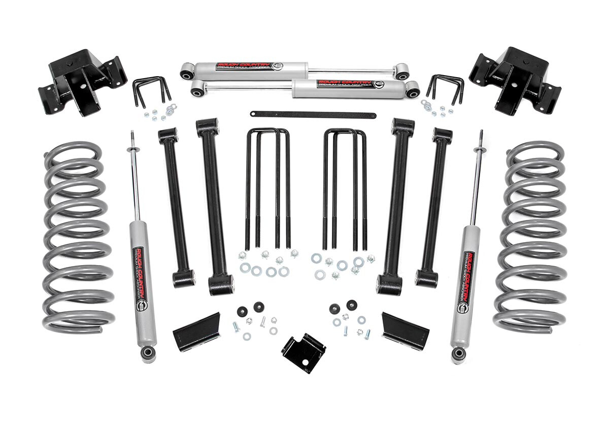 Rough Country 3 Dodge Suspension Lift Kit 94 02 Ram