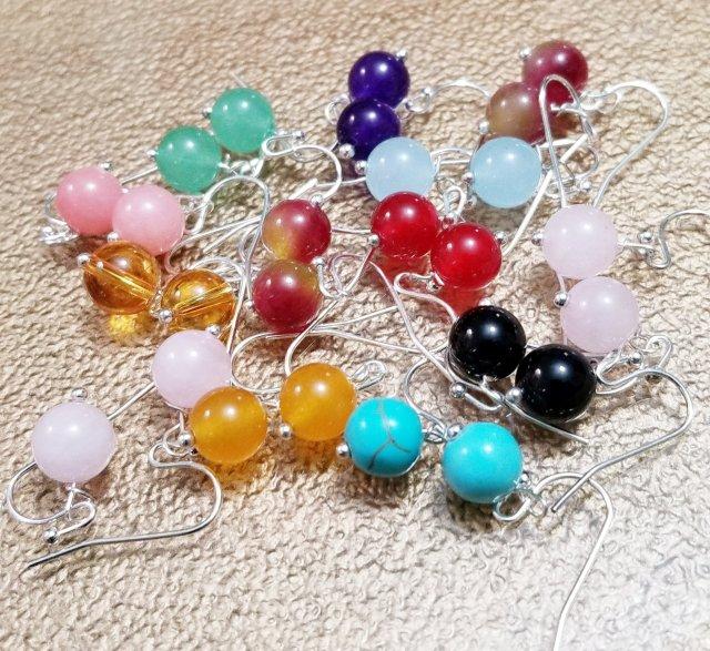 Chakra Genuine Semi Precious Earrings 00181