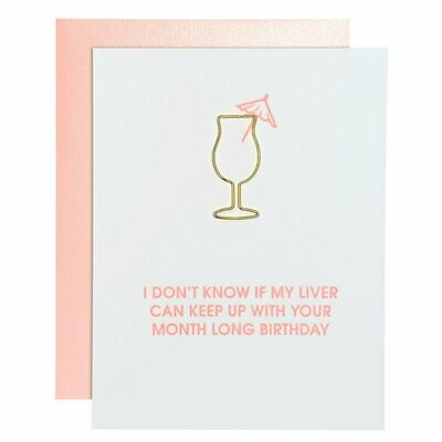 Liver Month Birthday Paperclip Card