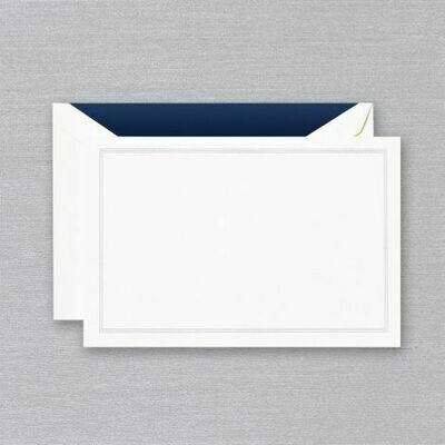 Navy Blue Triple Hairline White Card Set