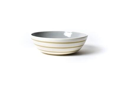 Neutral Nouveau Medium Tan Stripe Bowl