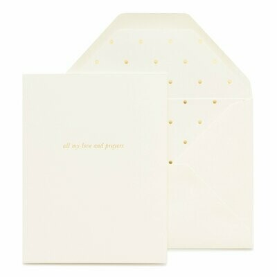 All My Love And Prayers Sympathy Card