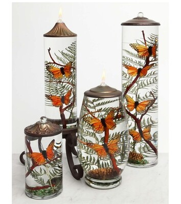 Orange Monarch Butterfly Small Cylinder Lifetime Candle