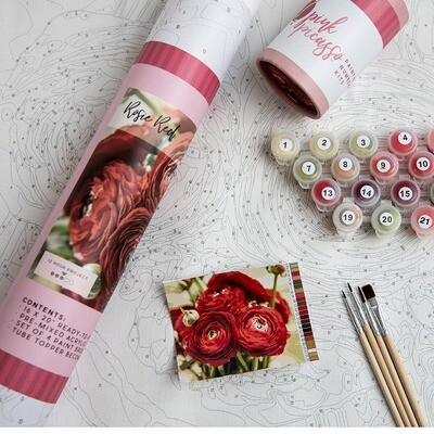 Red Roses Adult Paint-By-Number