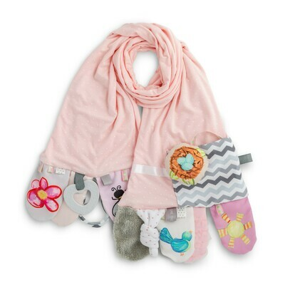 Mommy & Me Activity Scarf - Pink