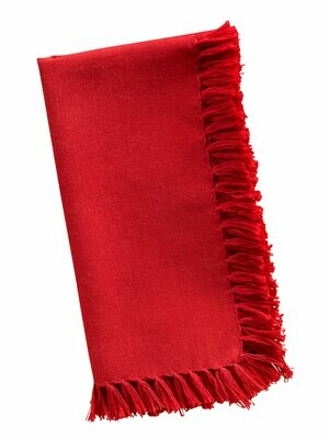Red Fringed Essential Napkins