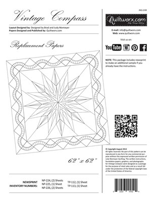Vintage Compass- Replacement Papers