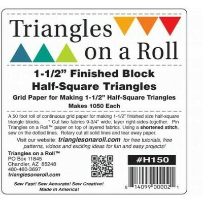 Triangles on a Roll 1 1/2