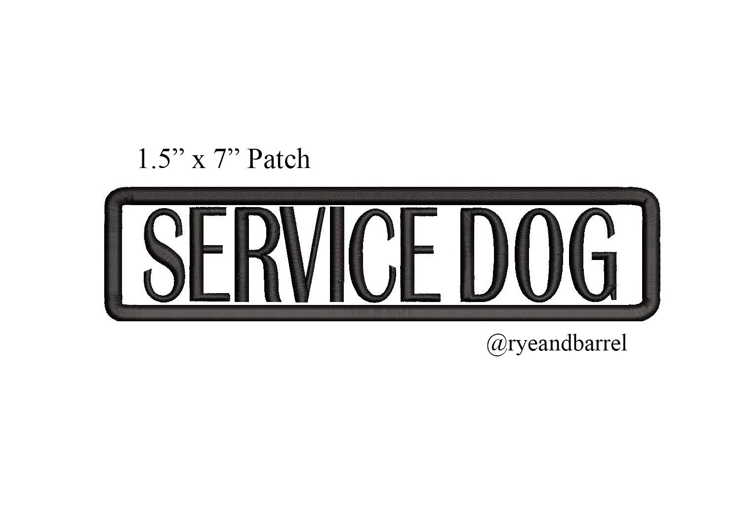 1 Custom Service Dog Patch 7 By 1 5